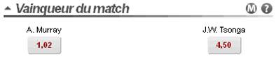Betclic : Pari Vainqueur du Match de Tennis