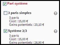 Le pari système arrive chez Winamax.fr