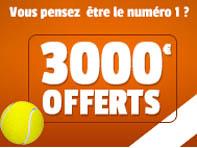 Paris sur le tennis: la cagnotte de 3 000€ de France-Pari